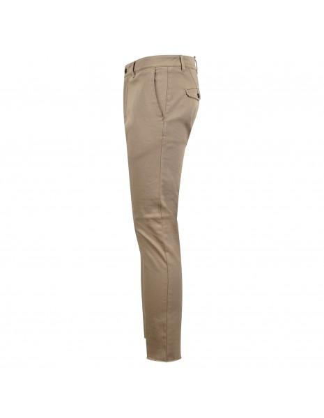Officina36 - Pantalone beige tasca a filo con ricami per uomo | 0266408291