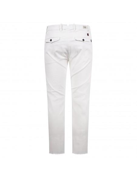 Officina36 - Pantalone bianco tasca a filo con ricami per uomo | 0266408291