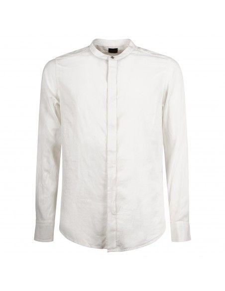 Officina36 - Camicia bianca coreana per uomo | 0392508099 3925elton bianco