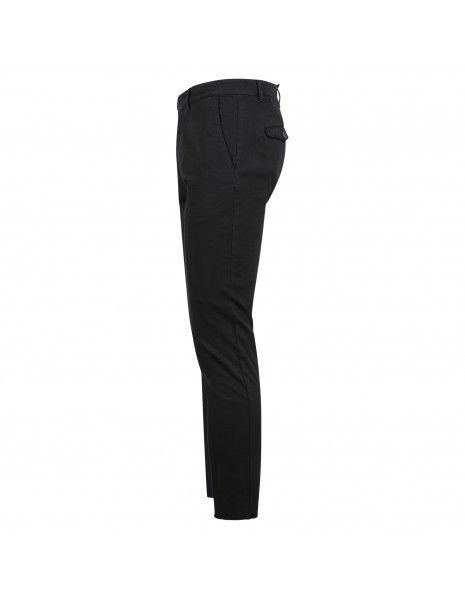 Officina36 - Pantalone nero tasca a filo con ricami per uomo | 0266408291 2664k