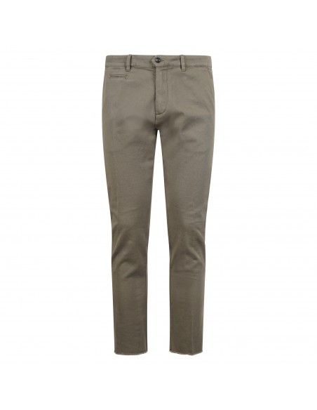 Officina36 - Pantalone verde tasca a filo con ricami per uomo | 0266408291