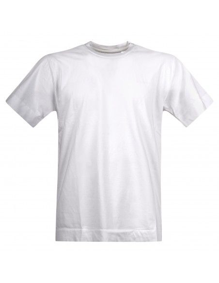 Officina36 - T-shirt bianca manica corta con logo per uomo | cumh427 bianco