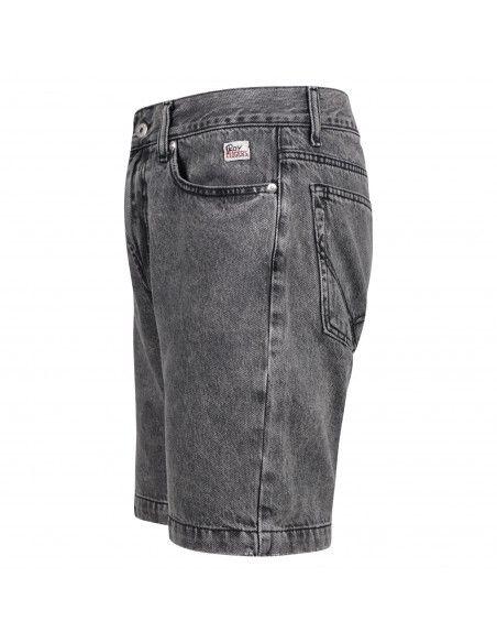 Roy Roger's - Bermuda jeans 5 tasche nera regular per uomo | p21rru085n0461685