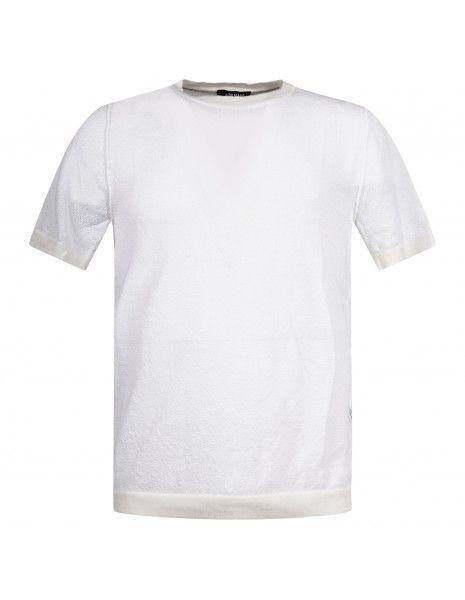 +39 Masq - T-shirt bianca in maglia di spugna per uomo | masq6401-12-00 1898