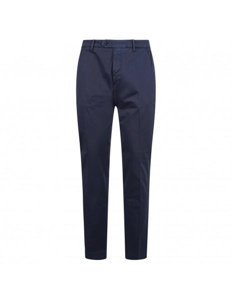 Luca Bertelli - Pantalone azzurro tasca a filo per uomo   p1608 louis bluette