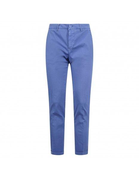Luca Bertelli - Pantalone azzurro tasca a filo con lavorazione per uomo | p1817