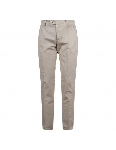 Luca Bertelli - Pantalone beige tasca a filo per uomo | p1608 louis beige