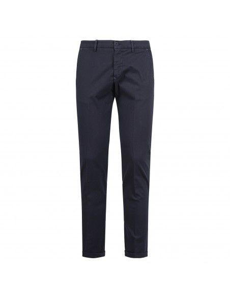 Luca Bertelli - Pantalone blu tasca a filo con lavorazione per uomo   p1817 tom