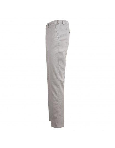 Barbati - Pantalone grigio tasca a filo con lavorazione per uomo | p-jek/r