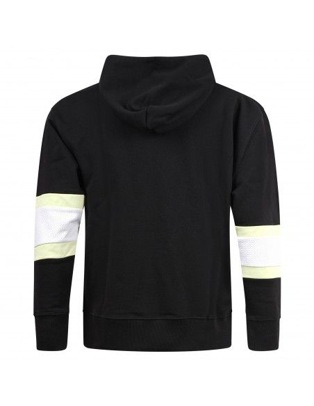 Tommy Jeans - Felpa nera con cappuccio con patch logo per uomo | dm0dm10657bds