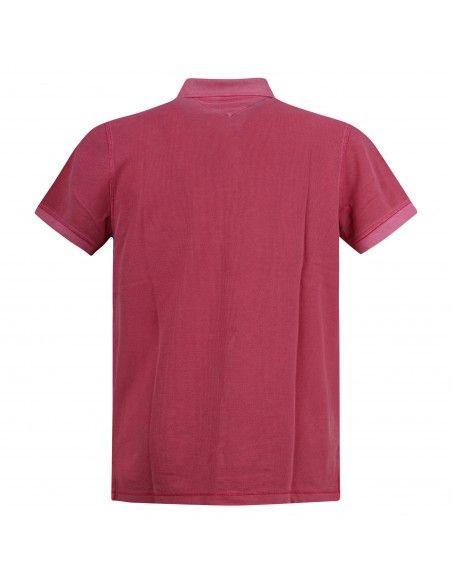 Tommy Jeans - Polo rosa manica corta con patch logo per uomo | dm0dm10586t1k