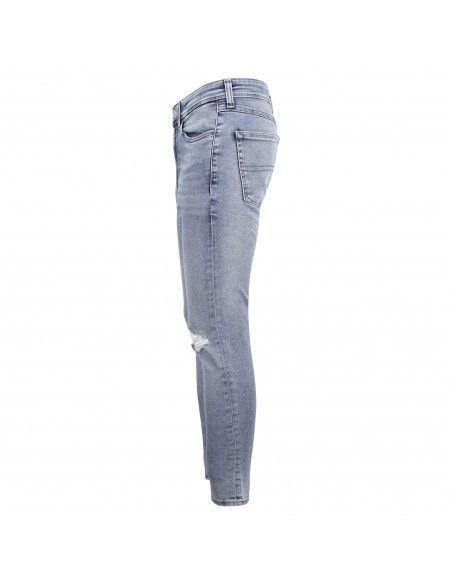 Tommy Jeans - Jeans 5 tasche denim chiaro skinny con rotture per uomo |