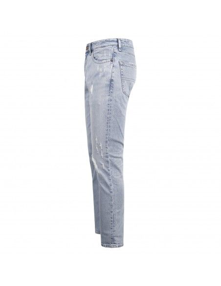 Tommy Jeans - Jeans 5 tasche denim chiaro slim con rotture per uomo |
