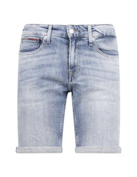 Tommy Jeans - Bermuda jeans 5 tasche denim chiaro slim per uomo | dm0dm105591a5