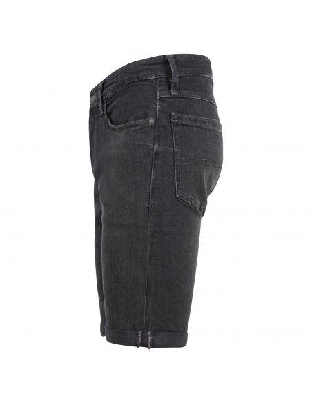 Tommy Jeans - Bermuda jeans 5 tasche nera relaxed per uomo | dm0dm105711bz