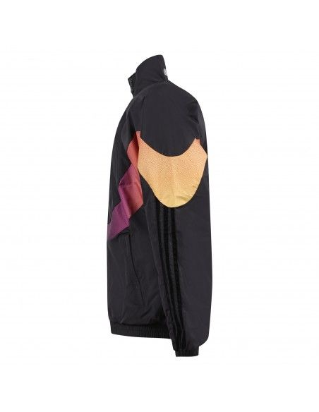 Adidas Originals - Giubbotto a vento nero con patch logo per uomo | gn2463