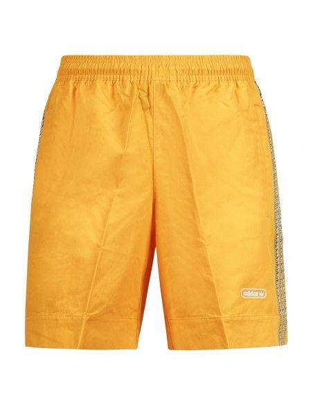 Adidas Originals - Bermuda arancione con elastico e coulisse per uomo | gn3899