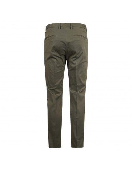 Luca Bertelli - Pantalone verde tasca a filo per uomo | p1824 pharrell militare