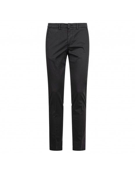 Luca Bertelli - Pantalone nero tasca a filo per uomo   p1600 skin nero