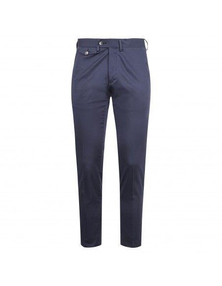 Luca Bertelli - Pantalone azzurro tasca a filo per uomo | p1613 pharrell bluette