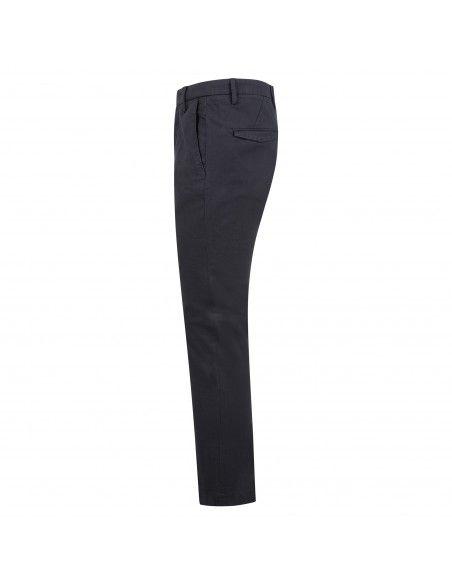 BRO - SHIP - Pantalone blu tasca a filo con lavorazione per uomo |