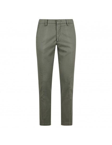 BRO - SHIP - Pantalone verde tasca a filo con lavorazione per uomo |