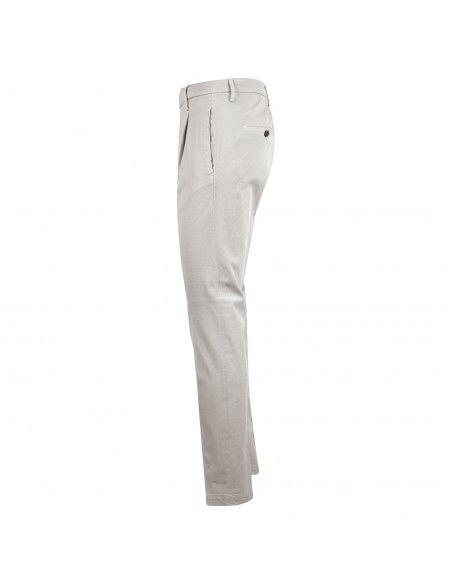 BRO - SHIP - Pantalone beige tasca a filo con lavorazione per uomo |