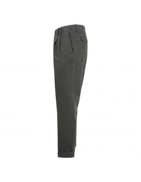 Roy Roger's - Pantalone verde tasca a filo con lavorazione per uomo |