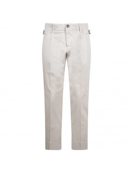 Havana & Co - Pantalone bianco tasca a filo per uomo | h7553 p5009e 11