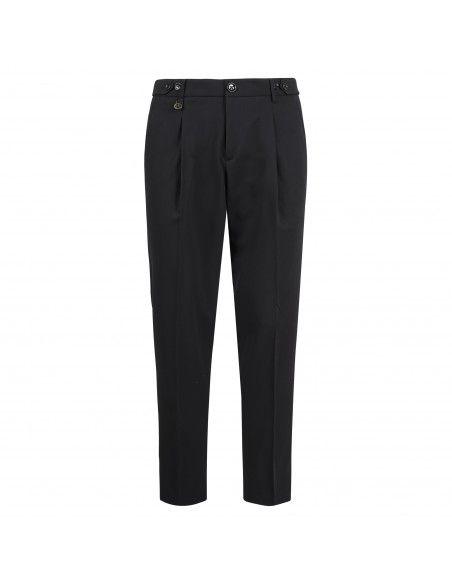 Havana & Co - Pantalone nero tasca a filo per uomo | h7225 t6022e 80