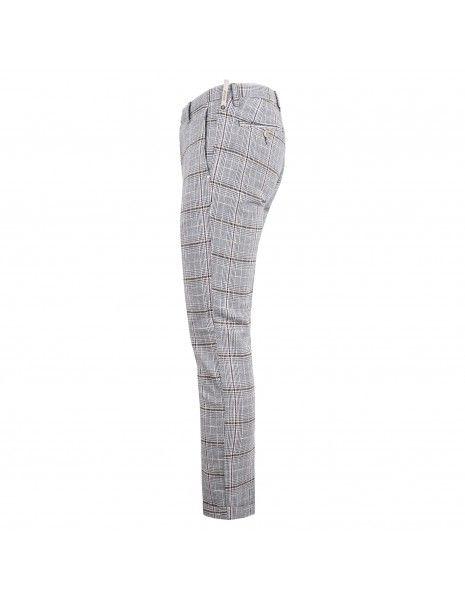 AT.P.CO - Pantalone multicolore tasca a filo check per uomo | a201sasa45