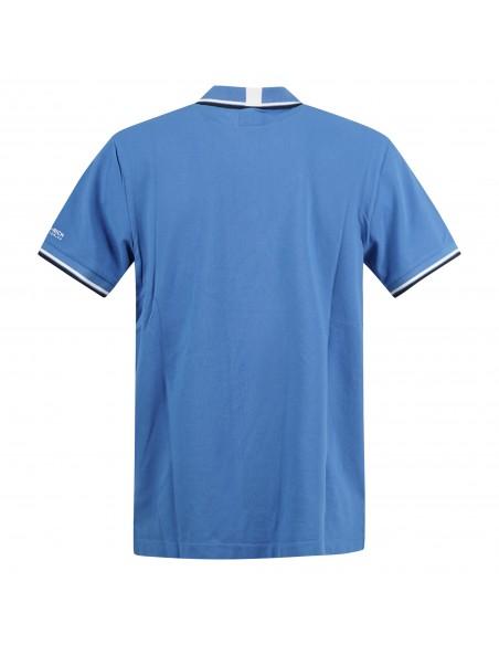 Penn-Rich Woolrich - Polo azzurra manica corta con bordino per uomo  