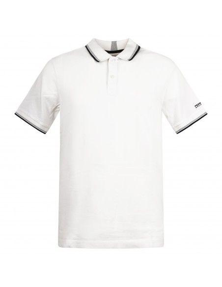Penn-Rich Woolrich - Polo bianca manica corta con bordino per uomo  