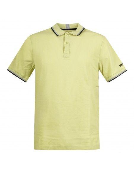 Penn-Rich Woolrich - Polo gialla manica corta con bordino per uomo |