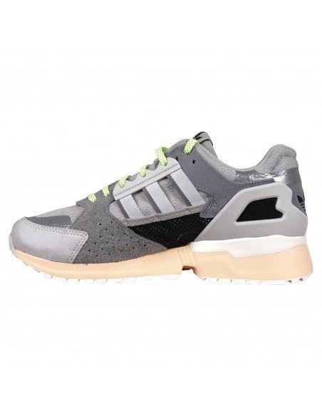 Adidas Originals - Sneakers multicolore in pelle con tre striscie grigie per