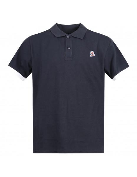 Invicta - Polo blu manica corta con patch logo per uomo | 4451220/u730