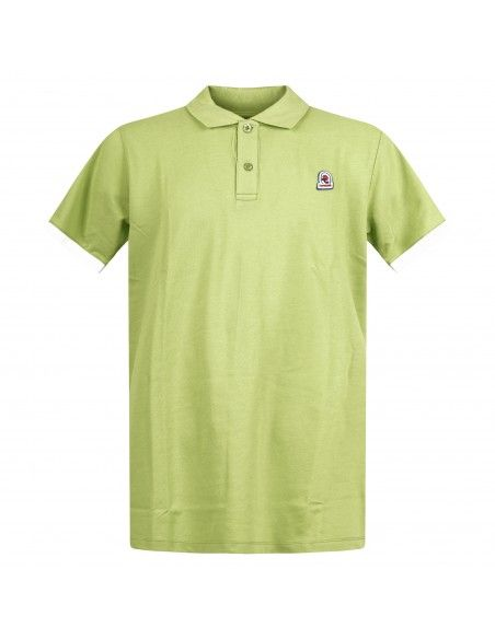 Invicta - Polo verde manica corta con patch logo per uomo | 4452226/u 865