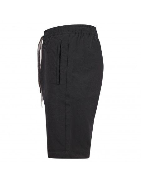 AT.P.CO - Bermuda nera tasca a filo in tessuto tecnico con coulisse in vita per
