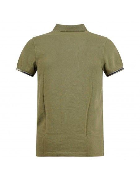Tommy Jeans - Polo verde manica corta con patch logo per uomo | dm0dm07803l8q