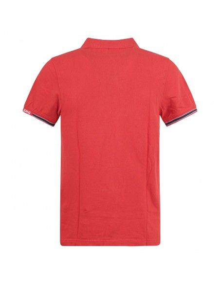 Tommy Jeans - Polo rossa manica corta con patch logo per uomo | dm0dm07803xnl
