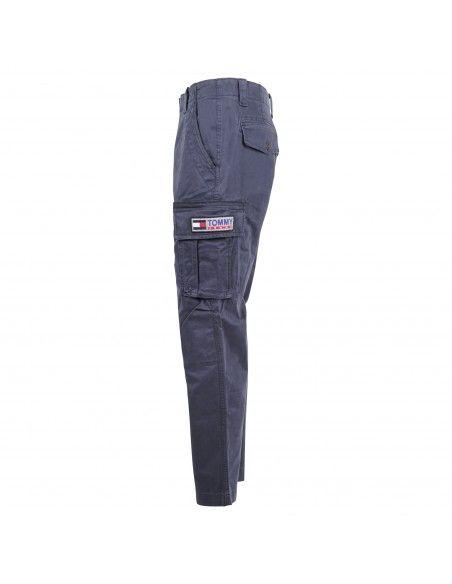 Tommy Jeans - Pantalone blu con tascone laterali per uomo   dm0dm07820c87