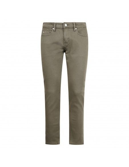 Tommy Jeans - Jeans verde 5 tasche per uomo | dm0dm06387 911