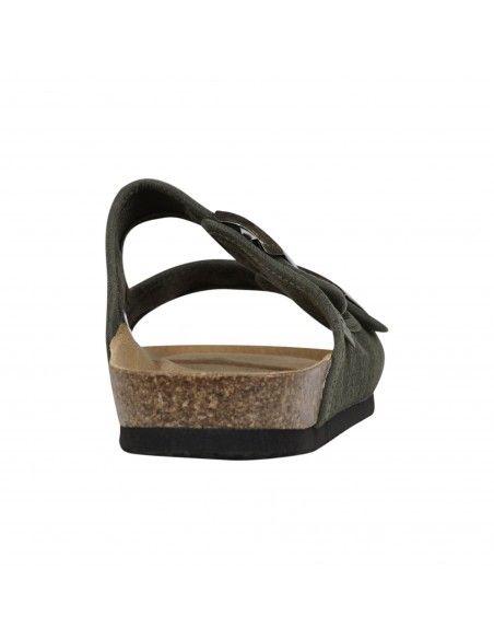 Natural World Eco - Sandali verde in cotone organico per uomo | 7001e-622 kaki