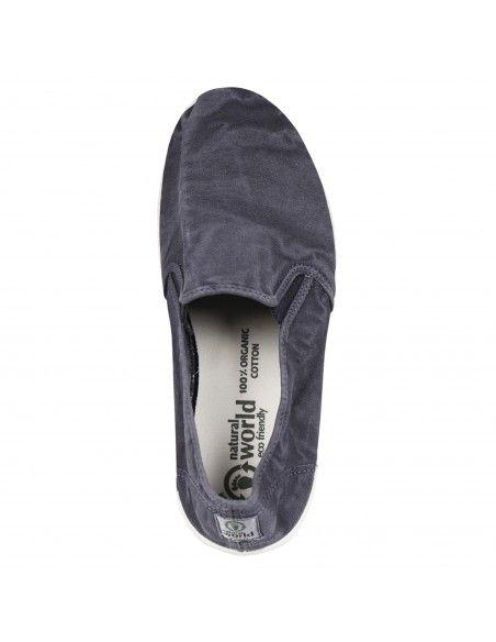 Natural World Eco - Slip-on blu in cotone organico per uomo | 315e-677 marino