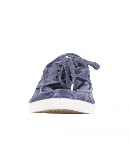 Natural World Eco - Mocassino azzurro con lacci in cotone organico per uomo |