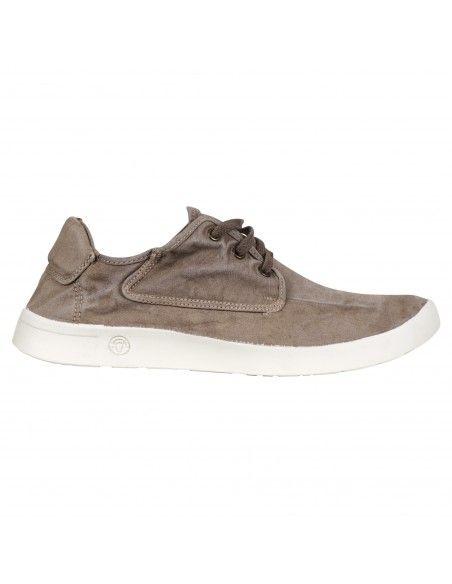 Natural World Eco - Sneakers beige con lacci in cotone organico per uomo |