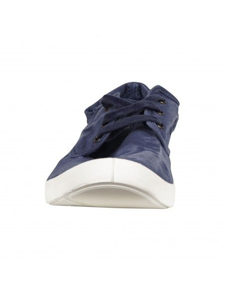 Natural World Eco - Sneakers blu con lacci in cotone organico per uomo |