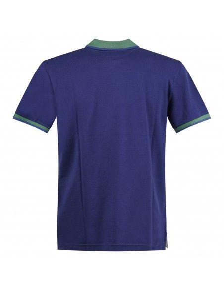 Ocean Star - Polo azzurra manica corta con il collo bicolore per uomo | tennis
