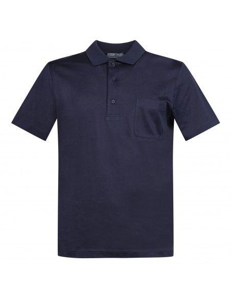 Ocean Star - Polo blu manica corta con taschino per uomo | tennis 7293 0552 blu
