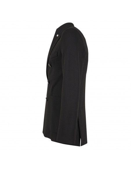 Havana & Co - Giacca nera doppiopetto in jersey per uomo   h2473jm g5037ej 80
